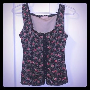 Forever 21 Cute & Sexy Floral Corset Style Tank